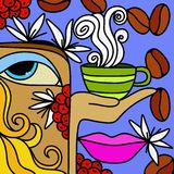 Cup of coffee. Abstract background with cup of coffee Royalty Free Stock Photos