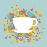 Abstract background with a cup of coffee Royalty Free Stock Image