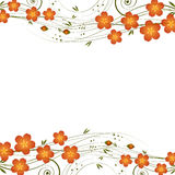 Abstract background with curl and flowers. Illustration for your design stock illustration