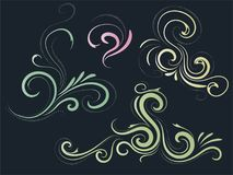 Abstract background with curls. Card. Buttiful Abstract background with curls. Card illustration Stock Images