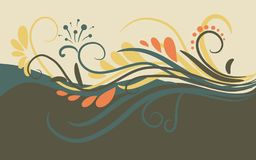 Abstract background with curls and place for text. Card. Illustration Royalty Free Stock Photo