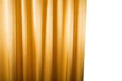 Abstract background, curtain, drapes gold fabric. Stock Photos