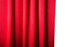 Abstract background, curtain, drapes red fabric. Crumpled cloth, folds of fabric Stock Photos