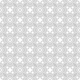 Seamless abstract floral geometric vector pattern stock illustration