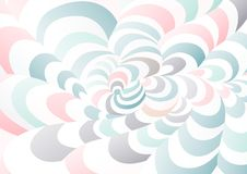 Abstract background of curved geometric shapes. The illusion of a three-dimensional image. Distortion of space Stock Photo