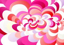 Abstract background of curved geometric shapes. The illusion of a three-dimensional image. Distortion of space Stock Images