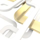 Abstract background of curved glossy lines on white Royalty Free Stock Images