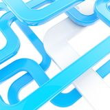 Abstract background of curved glossy lines on white royalty free illustration