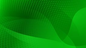 Abstract halftone dots background. Abstract background of curved lines, curves and halftone dots in green colors Stock Photography