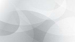 Abstract halftone dots background. Abstract background of curved lines, curves and halftone dots in white and gray colors Stock Illustration