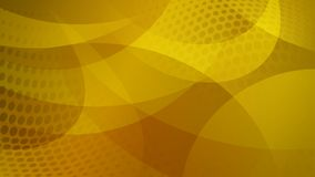 Abstract halftone dots background. Abstract background of curved lines, curves and halftone dots in yellow and orange colors Royalty Free Illustration