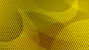 Abstract halftone dots background. Abstract background of curved lines, curves and halftone dots in yellow and orange colors Stock Illustration