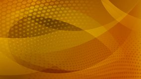 Abstract halftone dots background. Abstract background of curved lines, curves and halftone dots in yellow and orange colors Vector Illustration