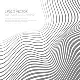 Abstract background with curved lines and shapes. Distortion of space. Waves and folds stock illustration