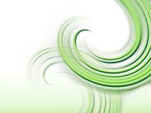 Abstract background with curves. Wallpaper with curves in green Royalty Free Stock Photos
