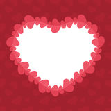 Abstract background with cut paper heart. Valentine's day abstract background with cut paper heart. Vector illustration Royalty Free Stock Photos