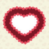 Abstract background with cut paper heart. Valentine's day abstract background with cut paper heart. Vector illustration Stock Photography