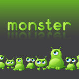 Abstract background with cute monsters Stock Image