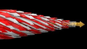 Abstract background of 3d arrows. (horizontal moving colored arrows version Stock Image