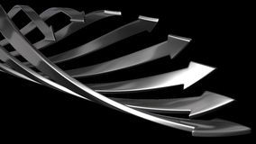 Abstract background of 3d arrows. (spiral moving iron arrows version royalty free illustration