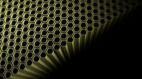 Abstract background. Background with 3d beehive on black Stock Image