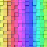 Abstract background. Of 3d blocks Royalty Free Stock Photography