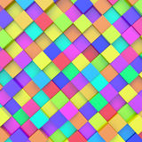 Abstract background. Of 3d blocks royalty free illustration