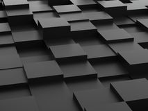 Abstract background of 3d blocks Royalty Free Stock Photography