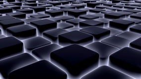 Abstract background of 3d blocks, cubes, box, 3d render Stock Photos