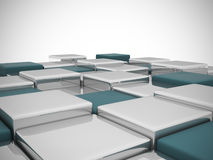 Abstract background of 3d blocks. 3d render Stock Photo