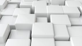 Abstract background of 3d blocks. 3d render illustration Stock Photos