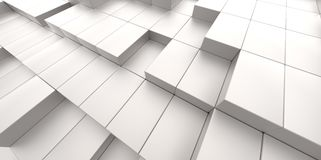 Abstract background of 3d blocks. Abstract white background of 3d blocks place Royalty Free Stock Photos