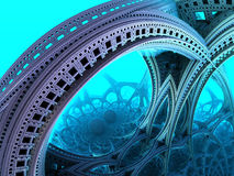 Abstract background 3D. Abstract background, blue fantastic 3D structures, fractal design vector illustration