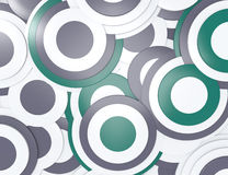 Abstract background. 3d circles white green vector illustration