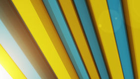 Abstract background with 3d color bars. Yellow and Blue Stock Image