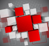 Abstract background with 3d cubes Stock Image