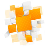 Abstract background with 3d cubes. This is file of EPS10 format stock illustration
