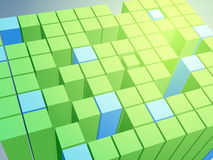 Abstract background with 3D cubes. Stock Image