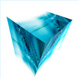 Abstract background with 3d cubes and squares Royalty Free Stock Photography