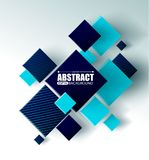 Abstract background with 3d cubes and squares vector illustration. Abstract background with 3d cubes and squares Royalty Free Stock Photo