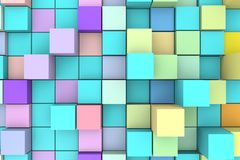 Abstract background with 3D cubes. Royalty Free Stock Image