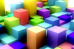 Abstract background with 3D cubes. Royalty Free Stock Images