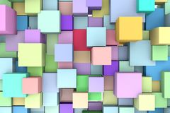 Abstract background with 3D cubes. Stock Photo