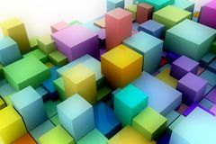 Abstract background of 3D cubes. Royalty Free Stock Photo