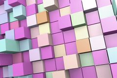 Abstract background of 3D cubes. Abstract background to create banners, covers, posters, cards, etc vector illustration