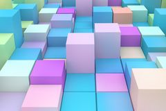 Abstract background with 3D cubes. Royalty Free Stock Photo