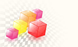 Abstract background 3d cubes Royalty Free Stock Photo