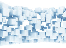 Abstract background with 3d cubes. On white background Royalty Free Stock Photos