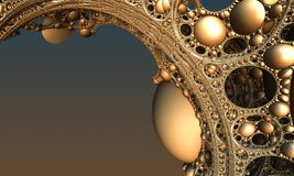 Abstract background 3D. Abstract background, fantastic 3D gold structures, render illustration royalty free illustration