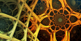 Abstract background 3D. Abstract background, fantastic 3D  structures, fractal design Vector Illustration